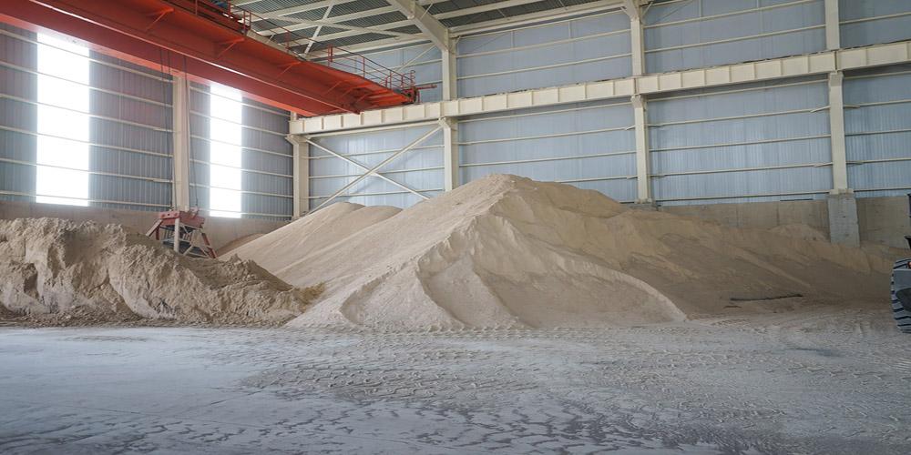 加气混凝土板材生产线——原料堆厂