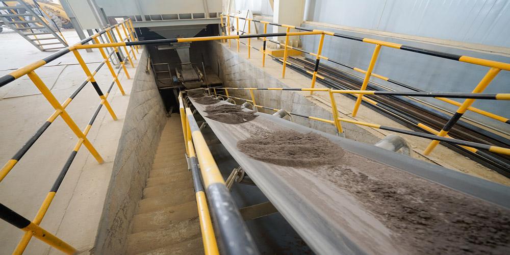 加气混凝土板材生产线——皮带输送