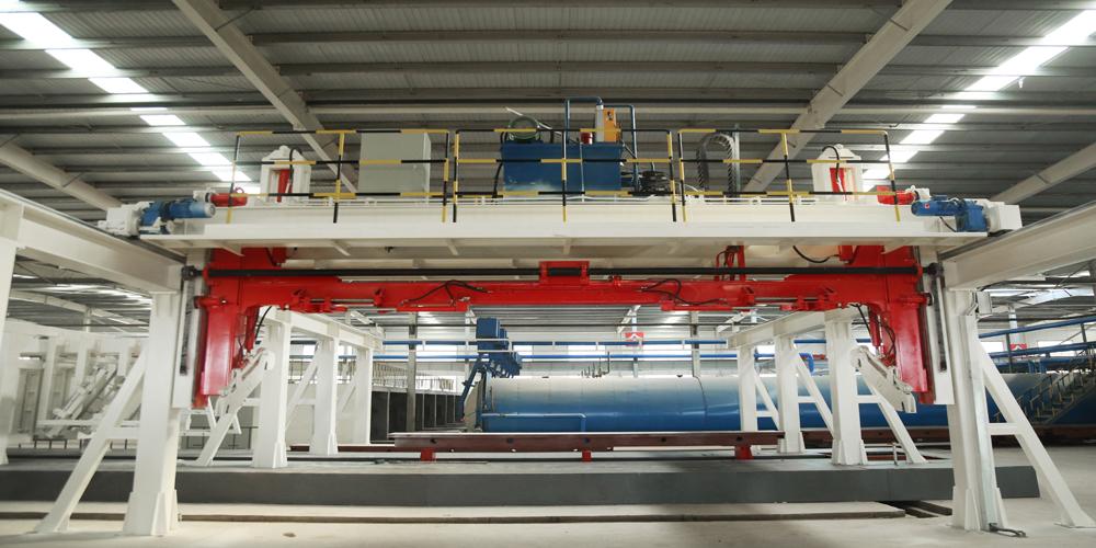 加气混凝土板材生产线——空翻脱模