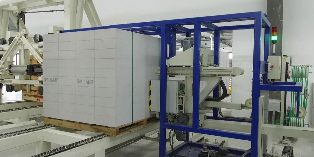 加气混凝土砌块生产线——成品打包