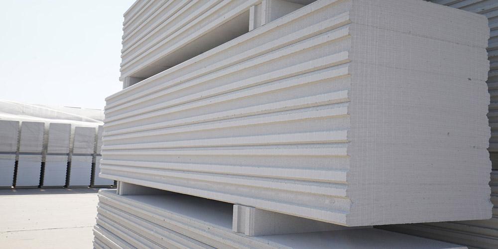 加气混凝土板材生产线——成品堆放