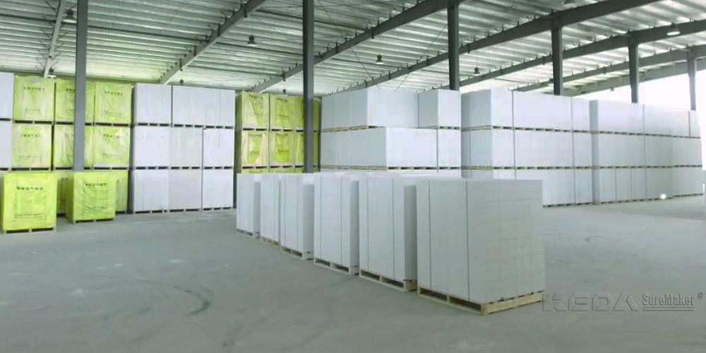 加气混凝土砌块生产线——成品堆放